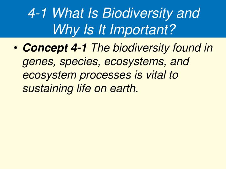 4-1 What Is Biodiversity and Why Is It Important?