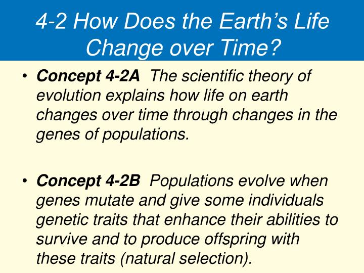 4-2 How Does the Earth's Life Change over Time?