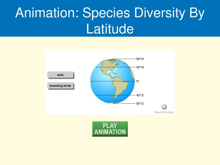 Animation: Species Diversity By Latitude