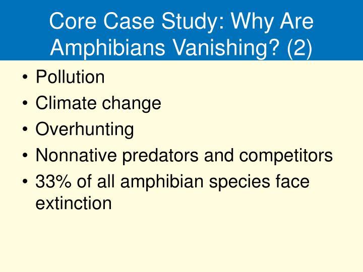 Core Case Study: Why Are Amphibians Vanishing? (2)