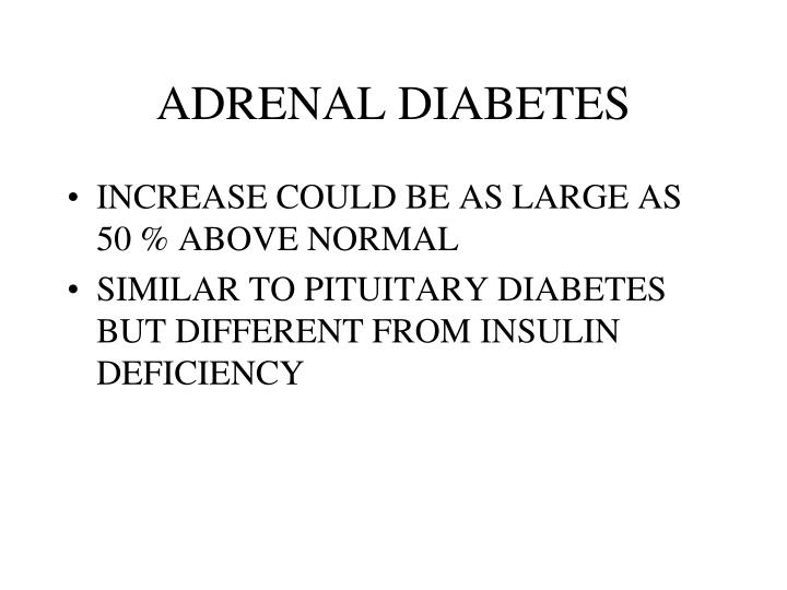 ADRENAL DIABETES