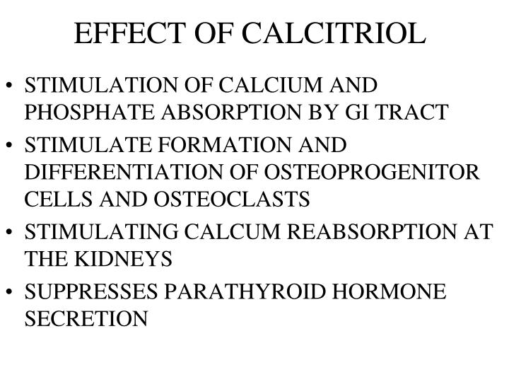 EFFECT OF CALCITRIOL