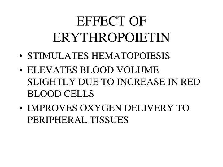 EFFECT OF ERYTHROPOIETIN