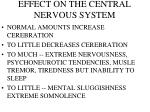 effect on the central nervous system