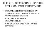 effects of cortisol on the inflammatory response
