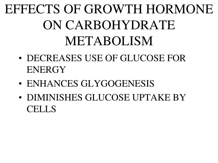 EFFECTS OF GROWTH HORMONE ON CARBOHYDRATE METABOLISM