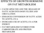 effects of growth hormone on fat metabolism