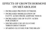 effects of growth hormone on metabolism