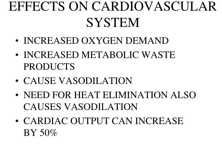 EFFECTS ON CARDIOVASCULAR SYSTEM