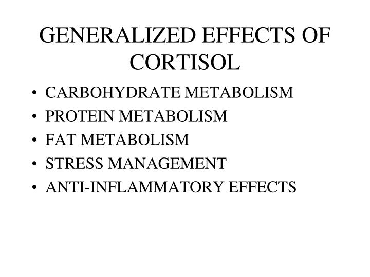 GENERALIZED EFFECTS OF CORTISOL