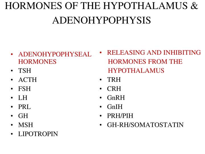 ADENOHYPOPHYSEAL HORMONES