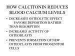 how calcitonin reduces blood calcium levels