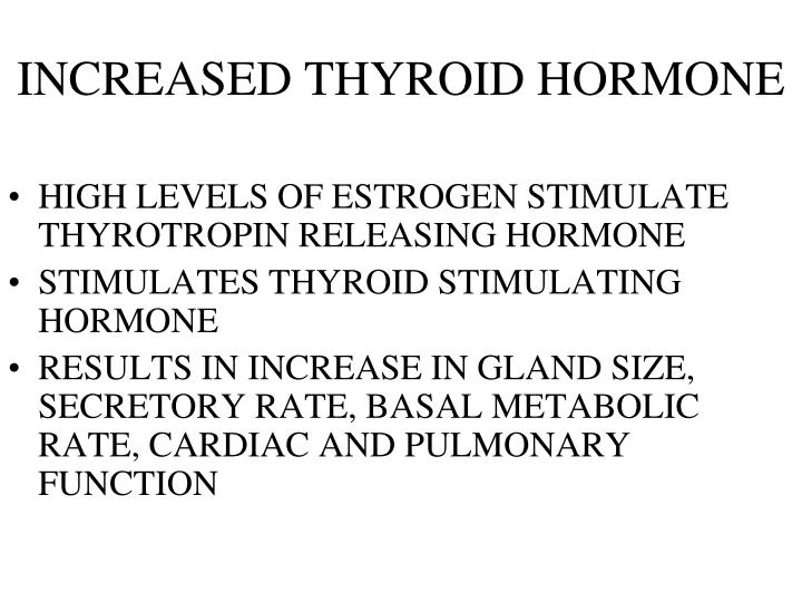 INCREASED THYROID HORMONE