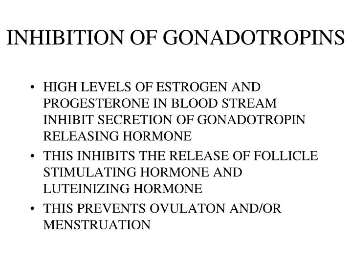 INHIBITION OF GONADOTROPINS