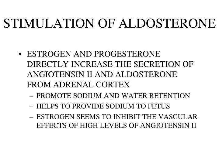 STIMULATION OF ALDOSTERONE