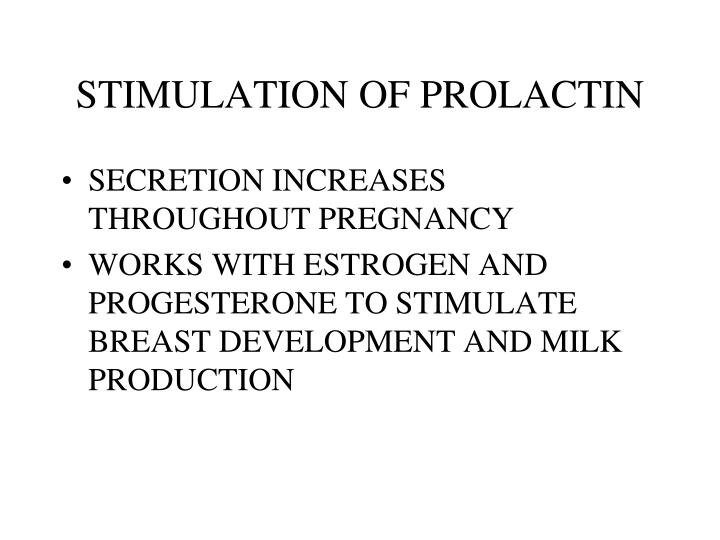 STIMULATION OF PROLACTIN