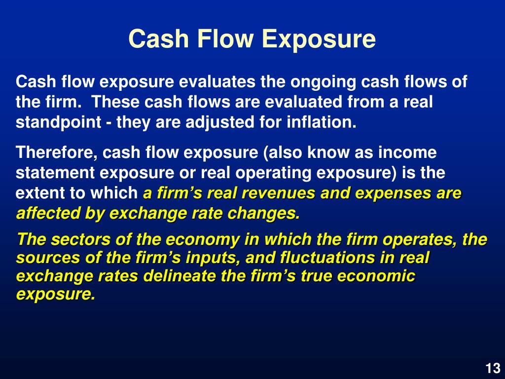 Cash Flow Exposure