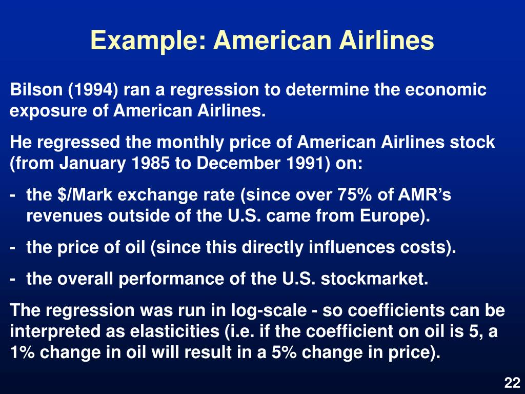 Example: American Airlines
