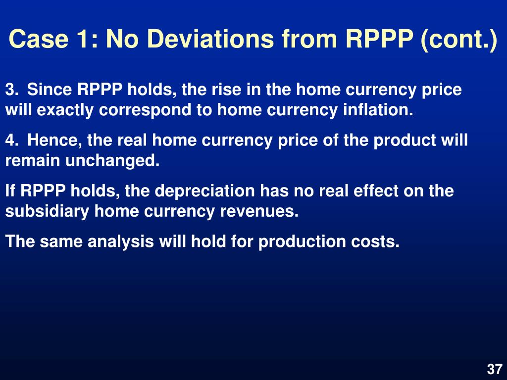 Case 1: No Deviations from RPPP (cont.)