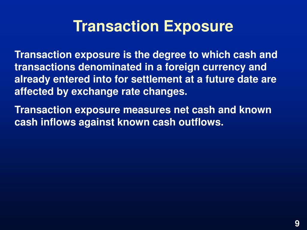 Transaction Exposure