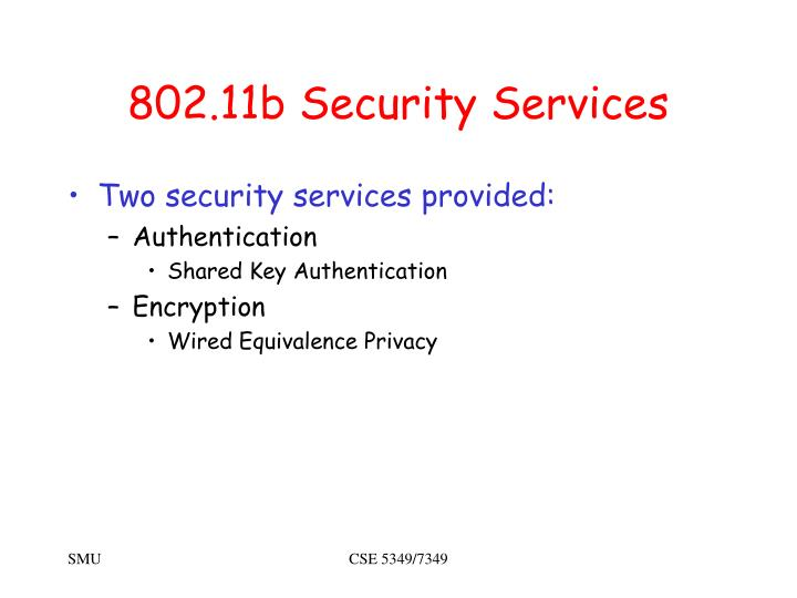 802.11b Security Services