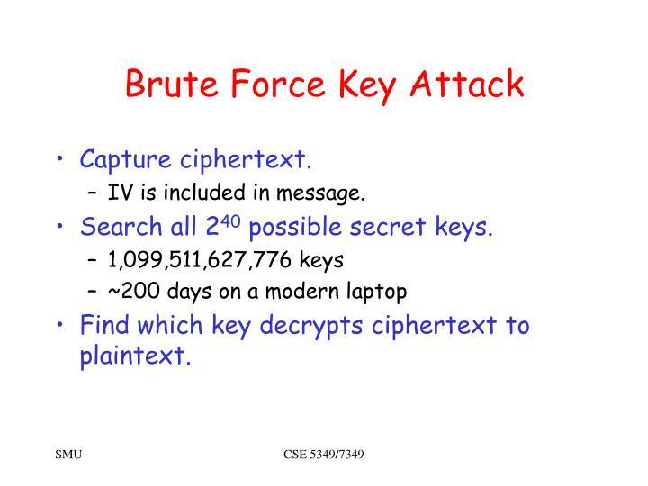 Brute Force Key Attack