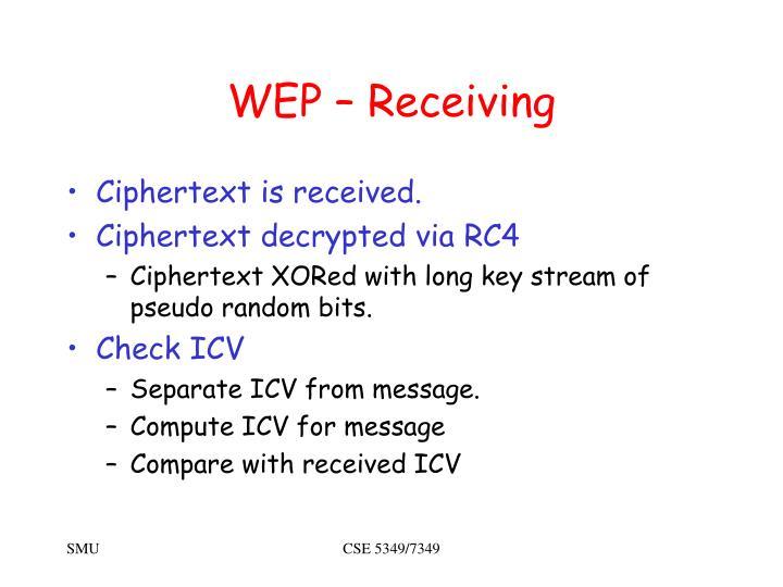 WEP – Receiving