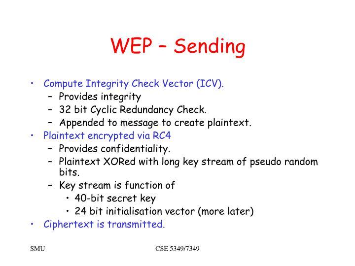 WEP – Sending