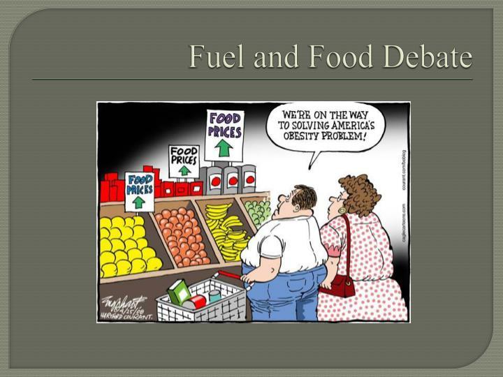 Fuel and Food Debate