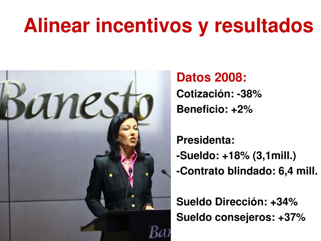 Alinear incentivos y resultados