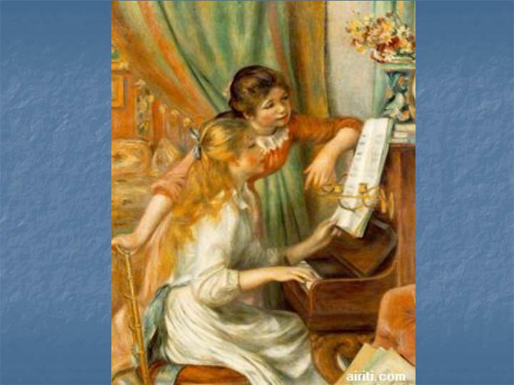 鋼琴前的少女