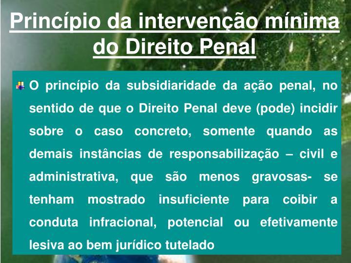 Princípio da intervenção mínima do Direito Penal