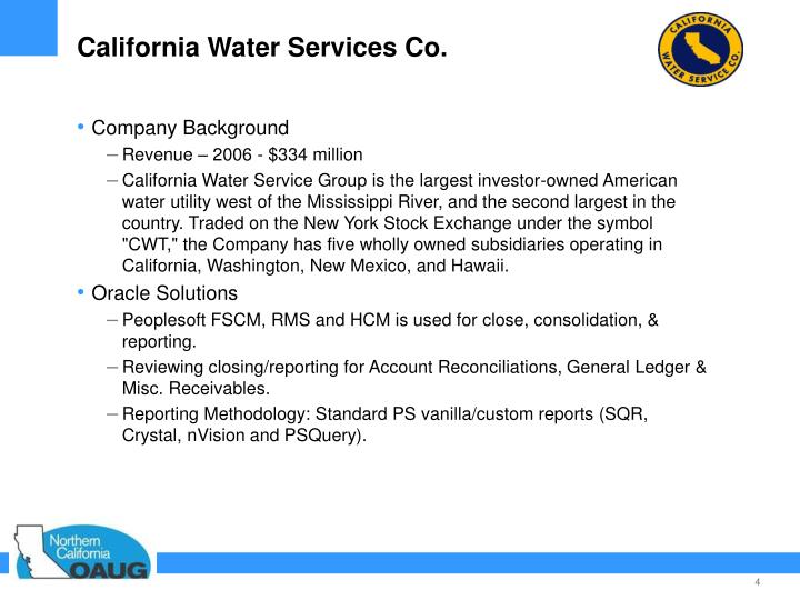 California Water Services Co.