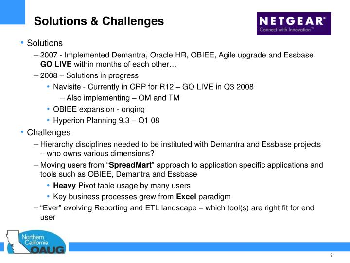 Solutions & Challenges