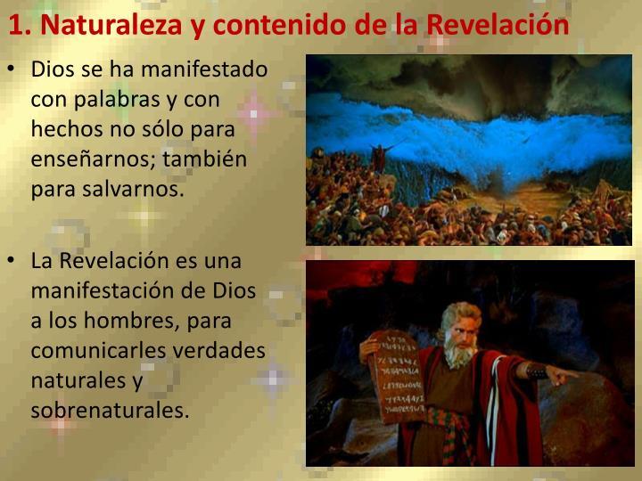 1. Naturaleza y contenido de la Revelación