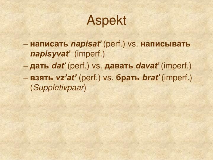 Aspekt