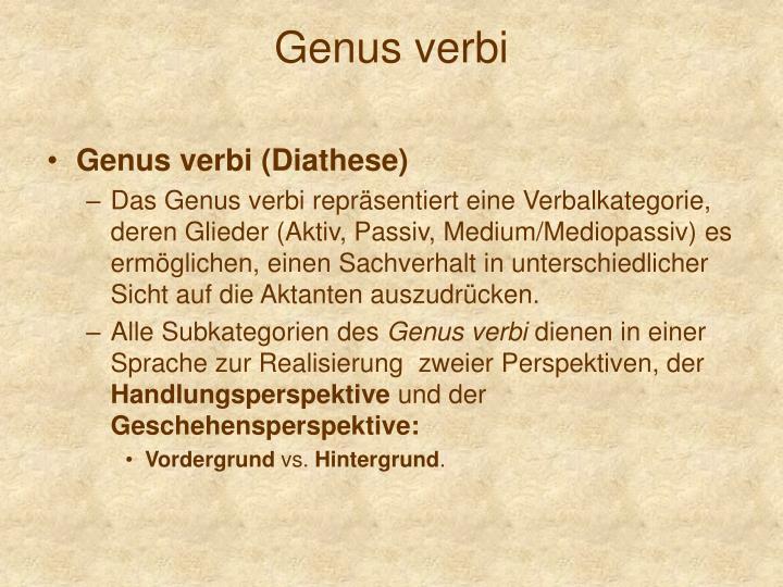 Genus verbi