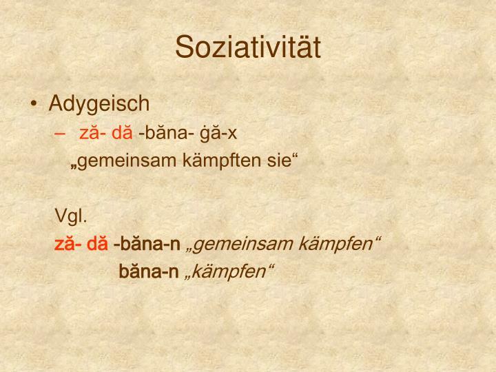 Soziativität