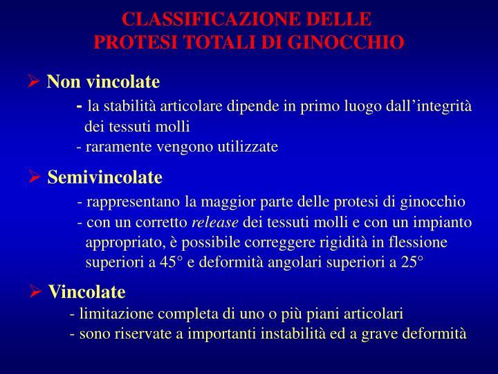CLASSIFICAZIONE DELLE