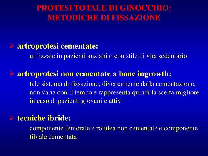 PROTESI TOTALE DI GINOCCHIO:
