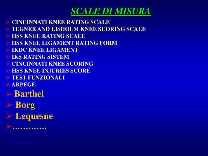 SCALE DI MISURA