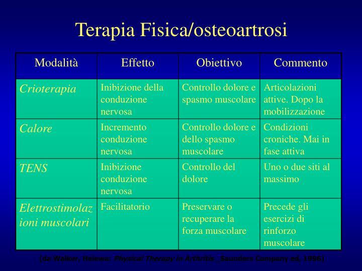 Terapia Fisica/osteoartrosi