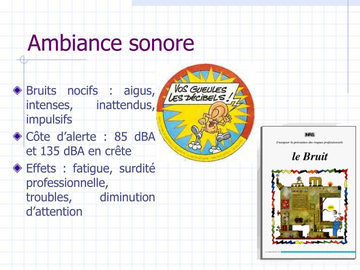 Ambiance sonore