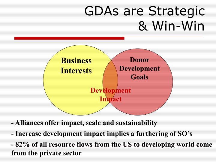 GDAs are Strategic & Win-Win