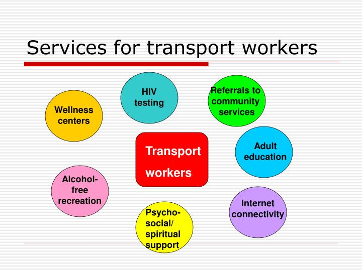 Services for transport workers