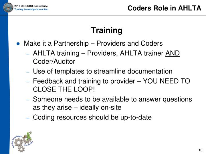 Coders Role in AHLTA