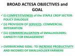 broad actesa objectives and goal