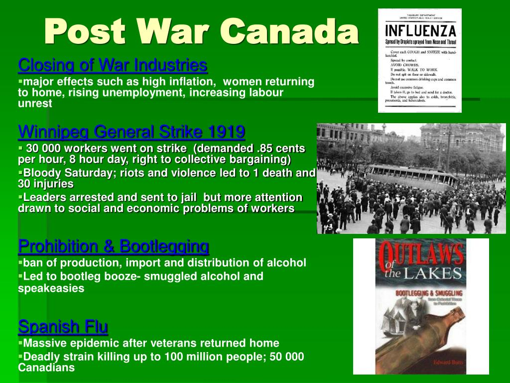 canada between the wars 1919 to The hatreds and fear stirred up by world war i did not end with  was indicative  of the links being forged between canadian,.