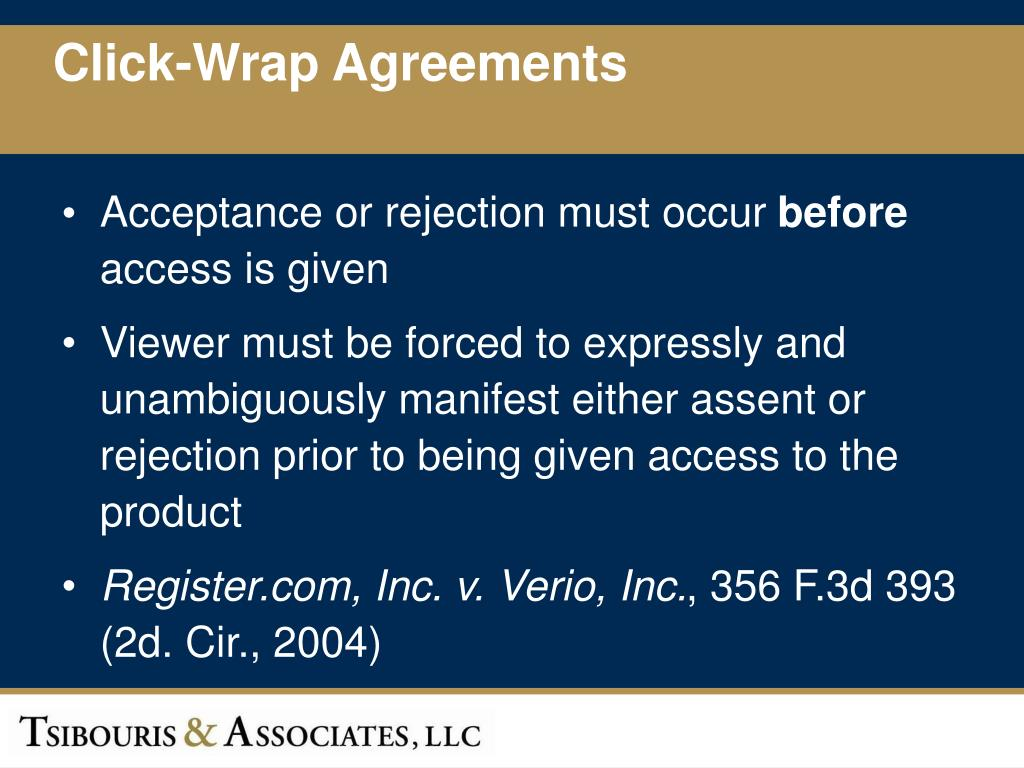 Click-Wrap Agreements