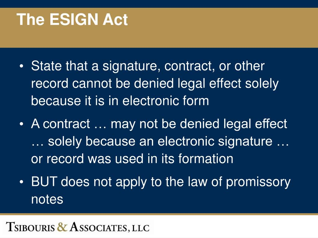 The ESIGN Act